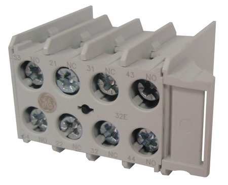 Aux Contact Block, 2NO-2NC, Front Mtg