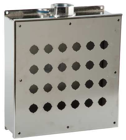Pushbutton Enclosure, 22mm, 24 Hole, 304 SS