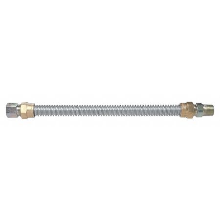 Gas Connetor, 304 SS, 1/2 x 24 In