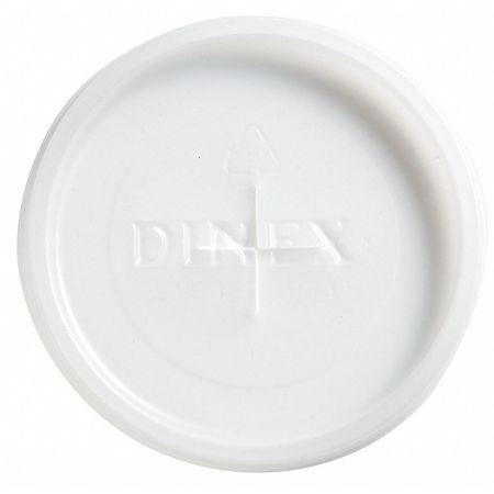 Lid for 5 oz. Cold Cup,  Flat,  Straw Slot,  Translucent,  Pk1000