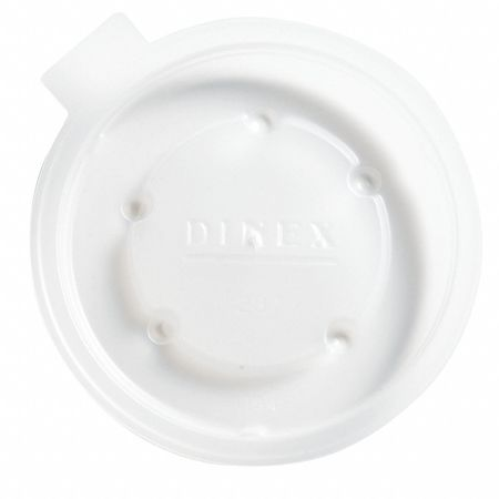 Lid for 8 oz. Hot Cup,  Flat,  Non Vented,  Translucent,  Pk2000