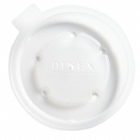 8 fl. oz. Translucent Cup Lid,  Flat,  Non Vented,  Pk2000