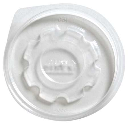 8 fl. oz. Clear Cup Lid,  Flat,  Non Vented,  Pk2000