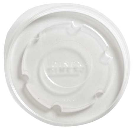 9 fl. oz. Clear Cup Lid,  Flat,  Non Vented,  Pk1000