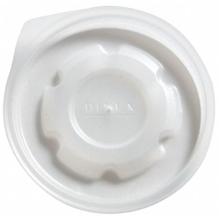 Lid for 9 oz. Hot Cup,  Flat,  Vented,  Translucent,  Pk1000