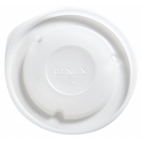 Lid for 8 oz. Hot Cup,  Flat,  Vented,  Translucent,  Pk2000
