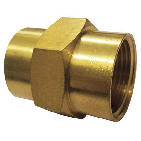 "3/8"" FNPT Brass Coupling 10PK"