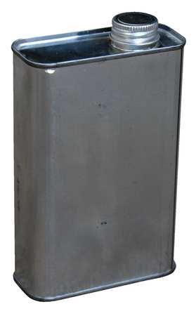Rectangular Steel Jug, 16 oz, With Cap