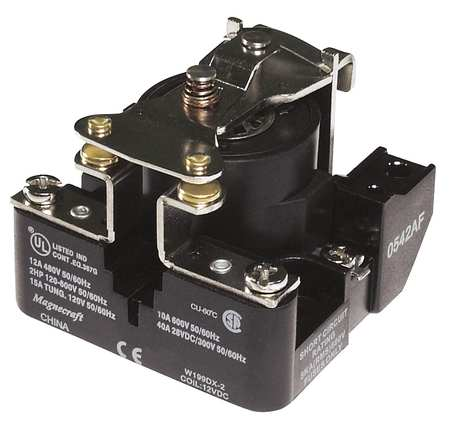Open Power Relay, 4 Pin, 24VAC, SPST-NO