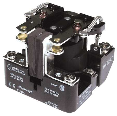 Open Power Relay, 8 Pin, 24VAC, DPDT