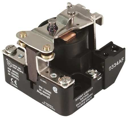 Open Power Relay, 4 Pin, 24VDC, SPST-NO