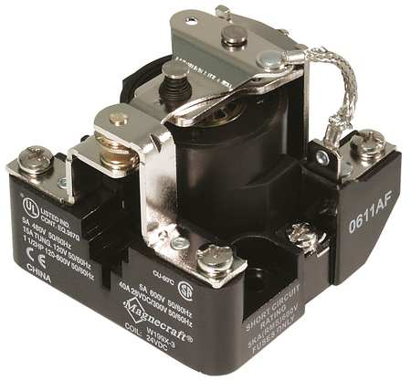 Open Power Relay, 6 Pin, 24VAC, DPST-NO
