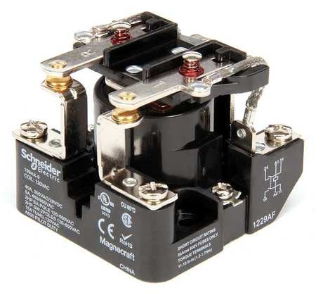 Open Power Relay, 6 Pin, 120VAC, DPST-NO