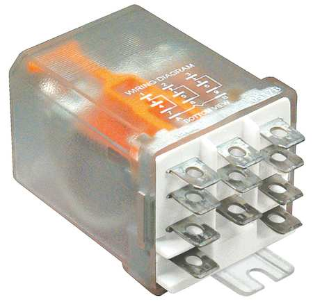 Enclosed Power Relay, 3PDT, 20A, 12VDC