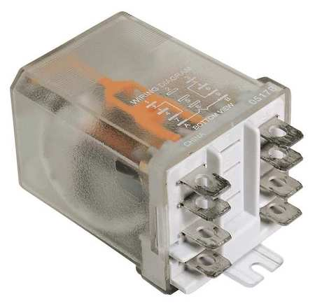 Enclosed Power Relay, 8 Pin, 120VAC, DPDT