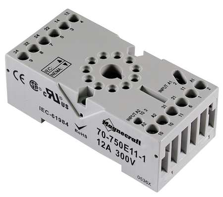 Relay Socket, Elevator, Octal, 11 Pin