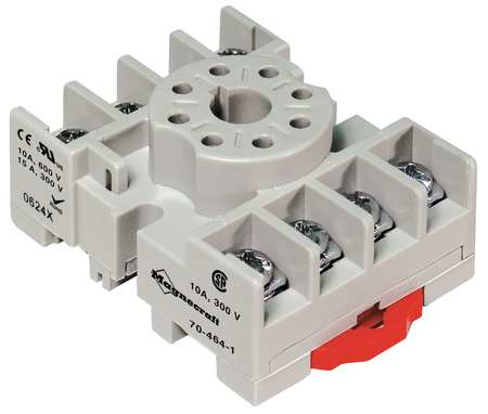 "Relay Socket, Standrd, Octal, 8 Pin, 2.12"" L"