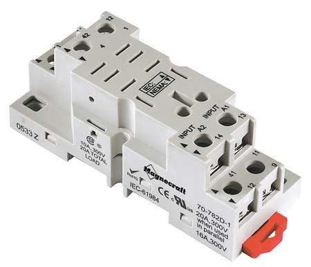 Relay Socket, Finger Safe, Square, 8 Pin