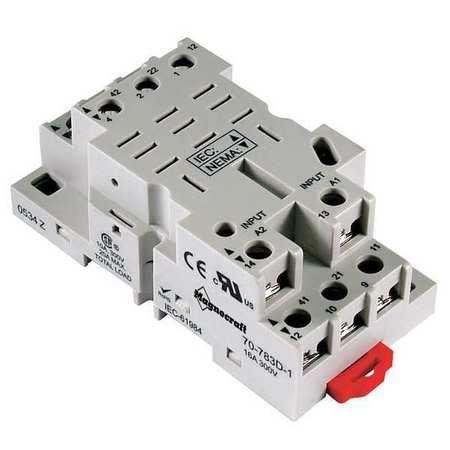 Relay Socket, Finger Safe, Square, 11 Pin