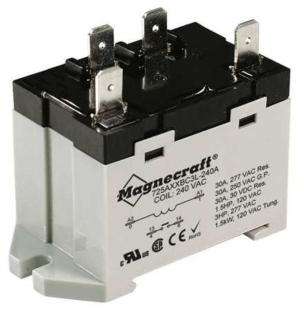 Enclosed Power Relay, 4Pin, 120VAC, SPST-NO