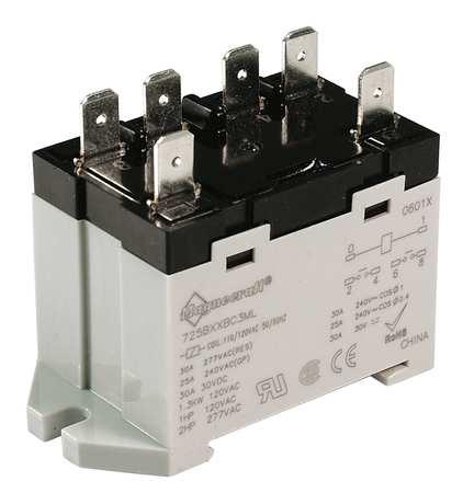 Enclosed Power Relay, 6Pin, 120VAC, DPST-NO