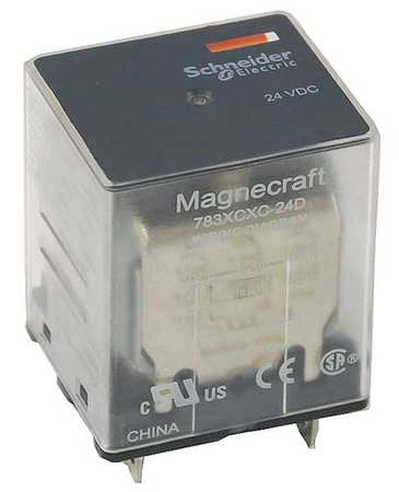 Plug In Relay, 11 Pins, Square, 24VAC