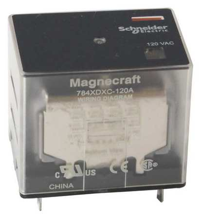 Plug In Relay, 14 Pins, Square, 24VAC
