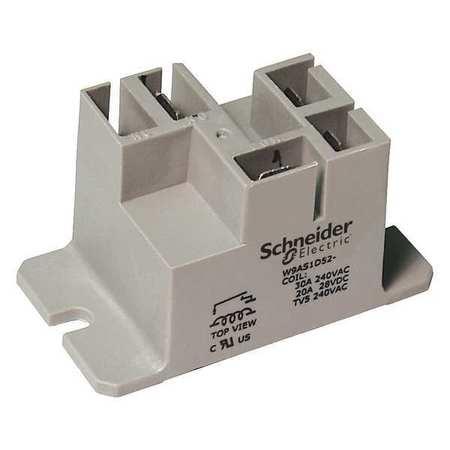 Enclosed Power Relay, 4 Pin, 24VAC, SPST-NO