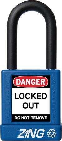"Lockout Padlock, KD, Blue, 1-3/4""H"