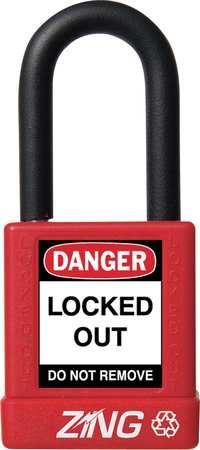"""Lockout Padlock, KD, Red, 1-3/4""""H"""