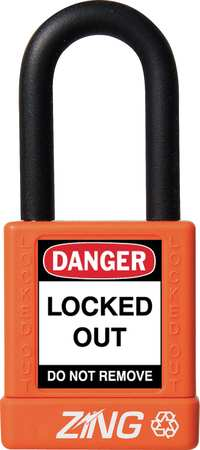 "Lockout Padlock, KA, Orange, 1-3/4""H"