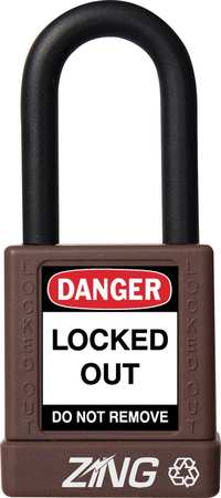 "Lockout Padlock, KD, Brown, 1-3/4""H"