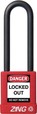 "Lockout Padlock, KA, Red, 1-3/4""H"