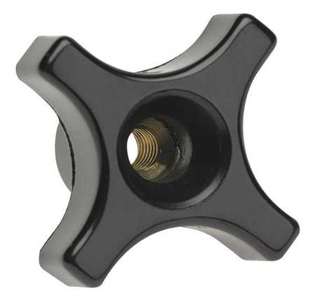 "Four Prong Knob,  Clamp Knob,  1/4-20 Size,  1""L,  HR Phenolic"