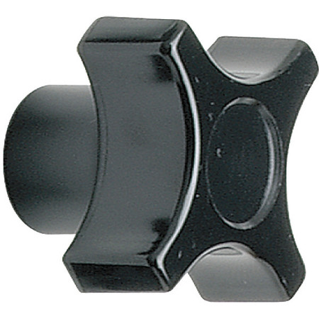 "Four Prong Knob,  Clamp Knob,  1/2-13 Size,  1.13""L,  GP Phenolic"