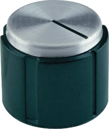 "Control Knob,  1/4"" Thread Size,  Molded Hole Type,  0.65"" c'bore"