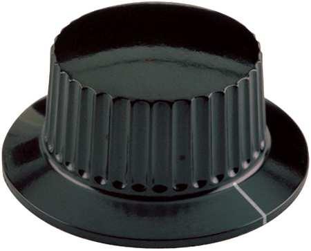 "Skirted Control Knob,  Control Knob,  1/4"" Size,  0.69""L,  GP Phenolic"