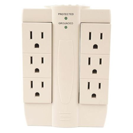 Surge Protector, 120V, 15A, 6 Outlets
