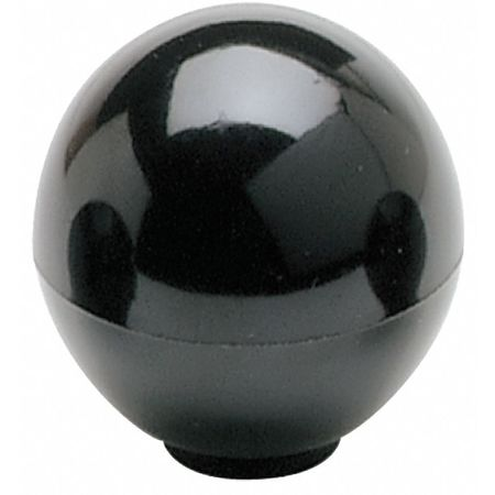 "Ball Knob,  3/8-16 Thread Size,  1.32""L,  Blind Tap"