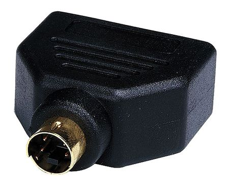 Cable Splitter, 1 to 2 Way S Video, Black