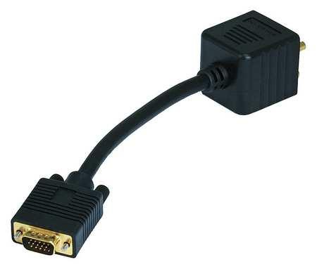 CPU Cord Splitter, VGA M/VGA F/DVI-A F