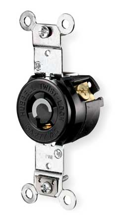 15A Locking Receptacle 2P 3W 277VAC L7-15R BK
