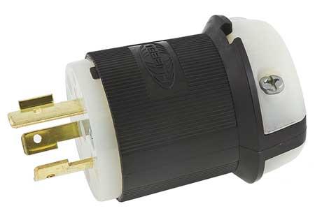 20A Locking Plug 2P 3W 480VAC L8-20P BK/WT
