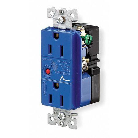 15A Duplex Decorator Receptacle 125VAC 5-15R BL