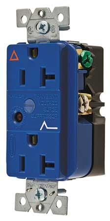 20A Duplex Decorator Receptacle 125VAC 5-20R BL