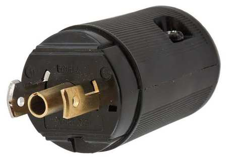 15A Midget Locking Plug 2P 3W 120VAC ML-2P BK