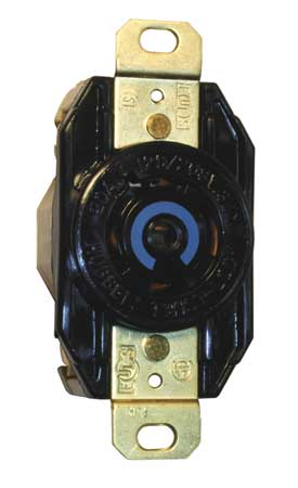 20A Locking Receptacle 4P 5W 277/480VAC L22-20R BK