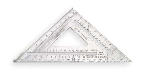 Rafter Angle Square, 12 In, Aluminum