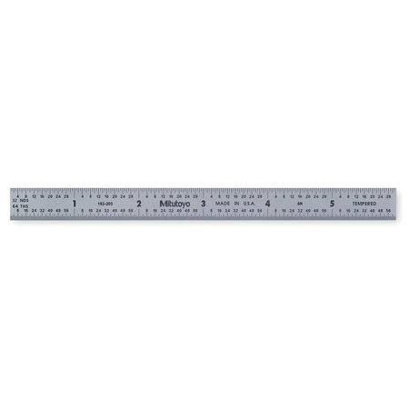 Steel Rule, Flexible, 6 In, 32/64/10/100ths