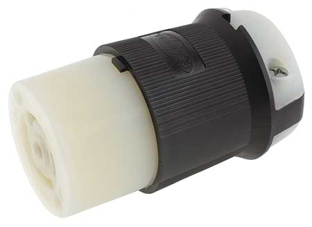 30A Locking Connector 4P 5W 277/480VAC L22-30R BK/WT